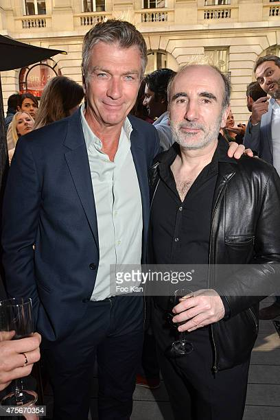 Actor Philippe Caroit and director Philippe Harel attend the Marie Claire Magazine Litterary Awards 2015 At le Montalembert on June 2 2015 in Paris...