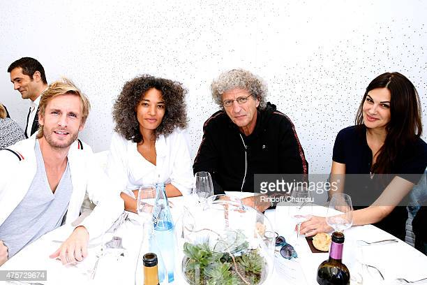 Actor Philippe Lacheau Director Elie Chouraqui with his wife Isabelle and Actress Helena Noguerra attend the 2015 Roland Garros French Tennis Open...