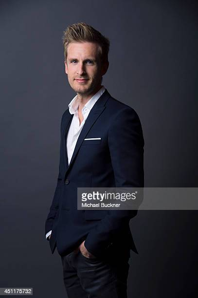 Actor Philippe Lacheau is photographed at the City of Lights City of Angeles French film festival portrait studio on April 21 2014 in Los Angeles...