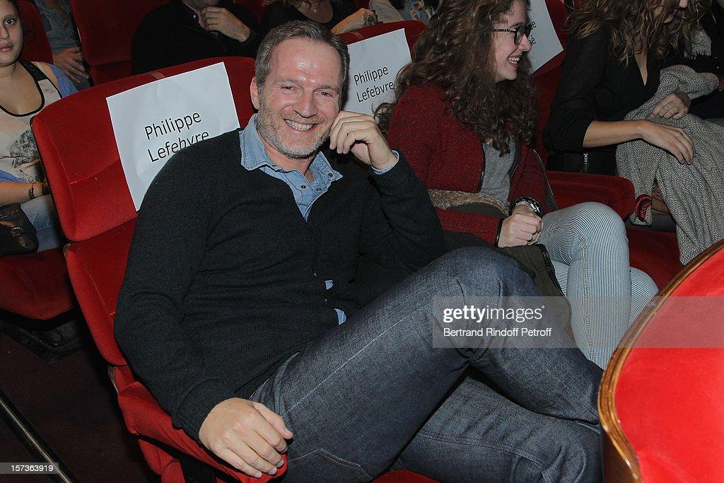 Actor Philippe Lefebvre attends the Paris Premiere of the movie 'Mais Qui A Re Tue Pamela Rose', at Cinema Gaumont Marignan on December 2, 2012 in Paris, France.
