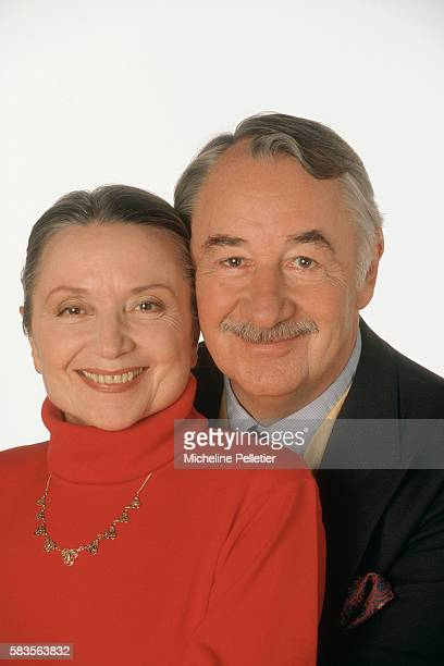 Actor Philippe Noiret with His Wife Monique Chaumette