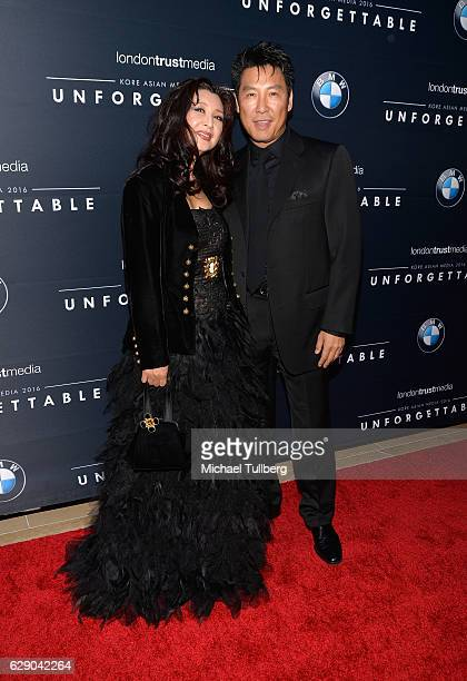 Actor Phillip Rhee and Amy Rhee attend the 15th Annual Unforgettable Gala at The Beverly Hilton Hotel on December 10 2016 in Beverly Hills California