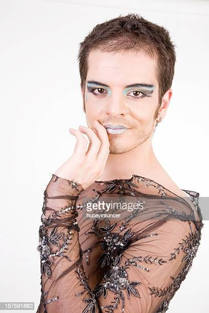actor - young crossdressers stock photos and pictures