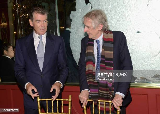 Actor Pierce Brosnan and Director Roger Spottiswoode attend the 2018 Innovation Gala where Chemotherapy Foundation honors Actor Producer and...