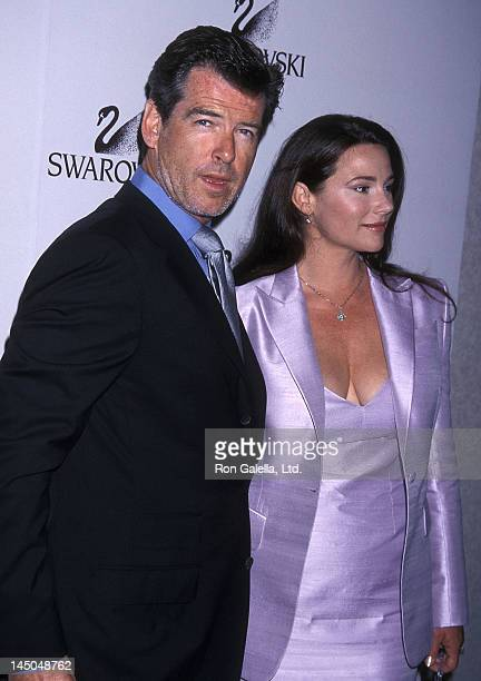 Actor Pierce Brosnan and girlfriend Keely Shaye Smith attend the 25th Annual Women in Film Crystal Awards on June 8 2001 at the Century Plaza Hotel...