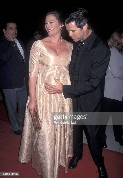 Actor Pierce Brosnan And Girlfriend Keely Shaye Smith Attend The Michael Collins Beverly Hills