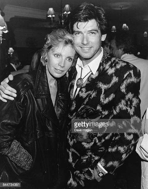 Actor Pierce Brosnan and his wife Cassandra Harris at a West End party London June 4th 1986