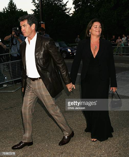Actor Pierce Brosnan and his wife Keely Shaye arrive at the Serpentine Summer party on July 11 2007 in London England
