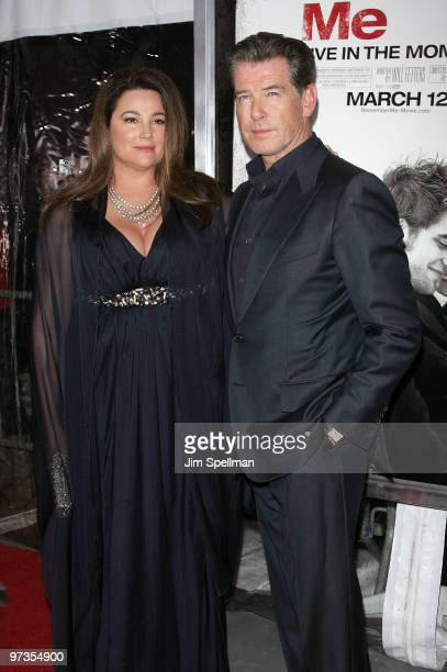 Actor Pierce Brosnan and Keely Shaye Smith attend the premiere of Remember Me at the Paris Theatre on March 1 2010 in New York City