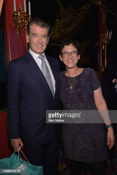 Actor Pierce Brosnan and Pola Muggia Stuff attend the 2018 Innovation Gala where Chemotherapy Foundation honors Actor Producer and Philanthropist...