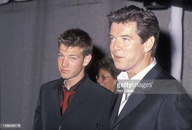 Actor Pierce Brosnan and son Sean Brosnan attend the Fifth Annual GQ Men of the Year Awards on October 26 2000 at the Beacon Theatre in New York City