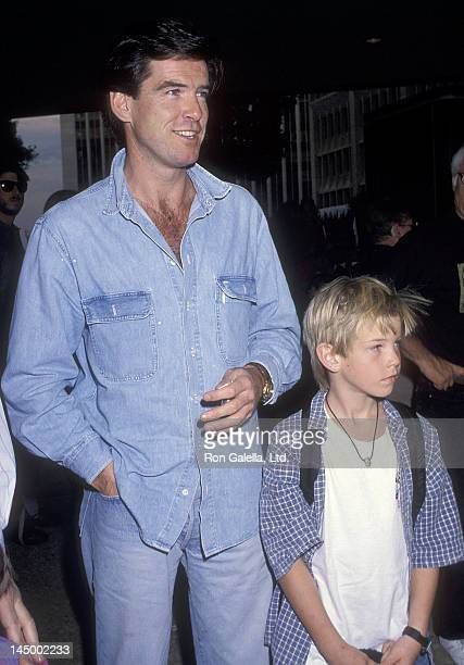 Actor Pierce Brosnan and son Sean Brosnan attend the 'Home Alone 2 Lost in New York' Century City Premiere on November 15 1992 at ABC Entertainment...