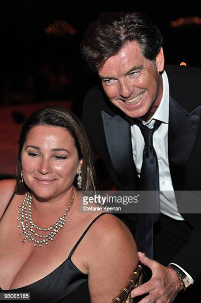 Actor Pierce Brosnan and wife actress Keely Shaye Smith attends the MOCA NEW 30th anniversary gala held at MOCA on November 14, 2009 in Los Angeles,...