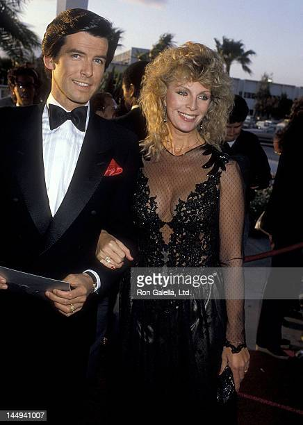 Actor Pierce Brosnan and wife Cassandra Harris attend the 10th Annual People's Choice Awards on March 15 1984 at the Santa Monica Civic Auditorium in...