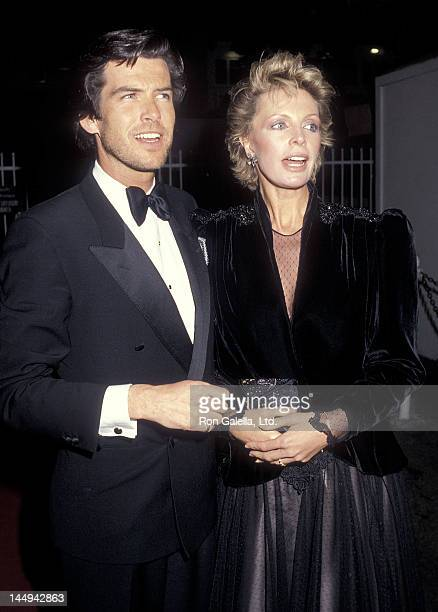 Actor Pierce Brosnan and wife Cassandra Harris attend the 11th Annual People's Choice Awards - After Party on March 14, 1985 at Ma Maison Restaurant...