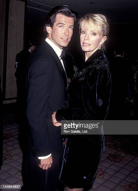 Actor Pierce Brosnan and wife Cassandra Harris attend the California Fashion Industry Friends of AIDS Project Los Angeles Fifth Annual Fashion Show...