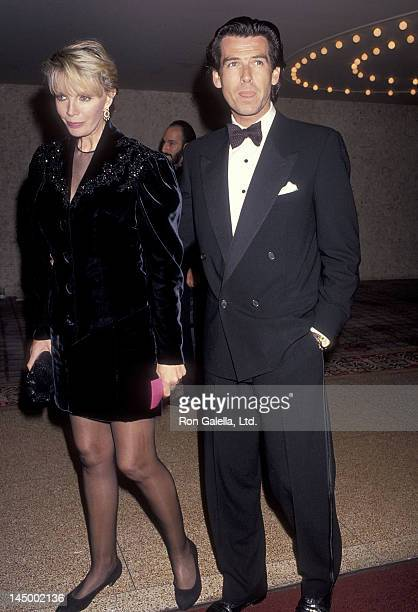 Actor Pierce Brosnan and wife Cassandra Harris attend the California Fashion Industry Friends of AIDS Project Los Angeles Fifth Annual Fashion Show &...