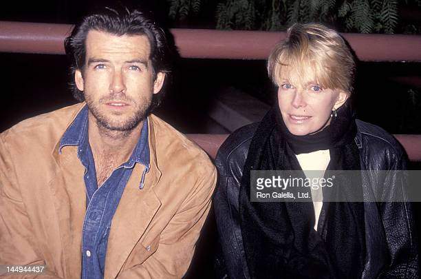 Actor Pierce Brosnan and wife Cassandra Harris attend the PreShow Backstage Pizza Party for the Teenage Mutant Ninja Turtle's Coming Out of Their...