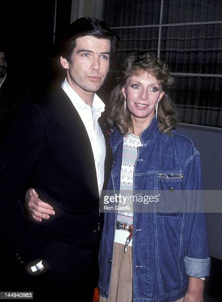 Actor Pierce Brosnan and wife Cassandra Harris attend the The Year of Living Dangerously Premiere Party on January 26 1983 at the MGM Commissary in...