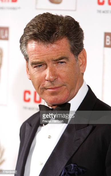 Actor Pierce Brosnan arrives at the 16th Annual British Academy of Film and Television/LA Cunard Britannia Awards on November 1 2007 at the Hyatt...