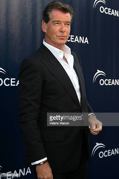Actor Pierce Brosnan arrives at the Annual SeaChange Summer Party To Benefit Oceana on September 10 2010 in Laguna Beach California