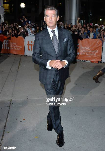 Actor Pierce Brosnan arrives at the 'Love Punch' Premiere during the 2013 Toronto International Film Festival at Roy Thomson Hall on September 12...