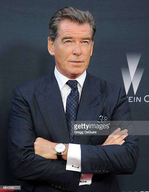 Actor Pierce Brosnan arrives at the premiere of The Weinstein Company's 'No Escape' at Regal Cinemas LA Live on August 17 2015 in Los Angeles...