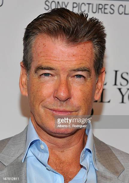 """Actor Pierce Brosnan arrives to the premiere of Sony Pictures Classics' """"Love Is All You Need"""" at Linwood Dunn Theater at the Pickford Center for..."""