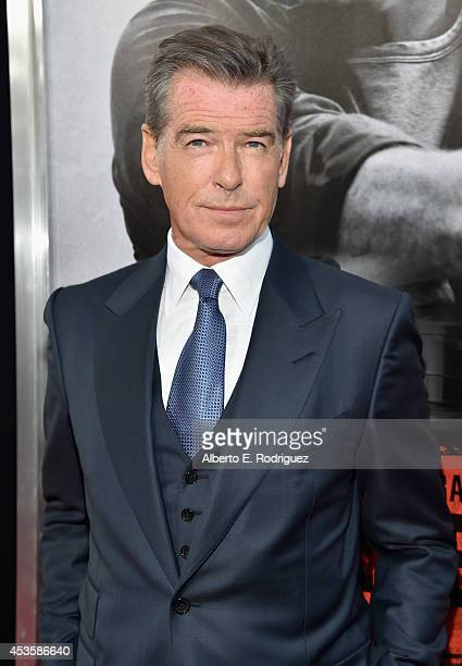 Actor Pierce Brosnan arrives to the World Premiere of Relativity Media's 'The November Man' at the TCL Chinese Theatre on August 13 2014 in Hollywood...