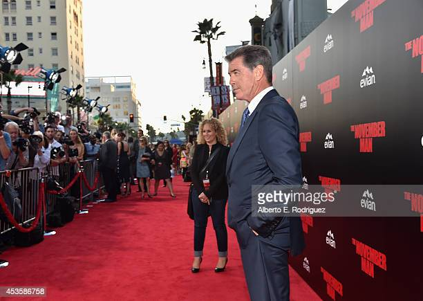 Actor Pierce Brosnan arrives to the World Premiere of Relativity Media's The November Man at the TCL Chinese Theatre on August 13 2014 in Hollywood...