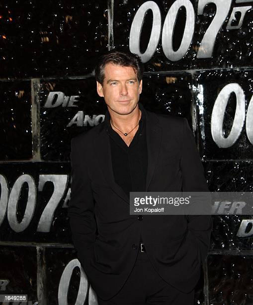 Actor Pierce Brosnan attends a special screening of Die Another Day on November 11 2002 in Los Angeles California The film opens in theaters...