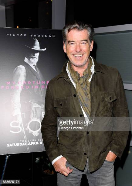 Actor Pierce Brosnan attends the AMC And TIFF Bell Lightbox Exclusive Canadian Screening Of The Network's Upcoming Television Series 'The Son' TIFF...