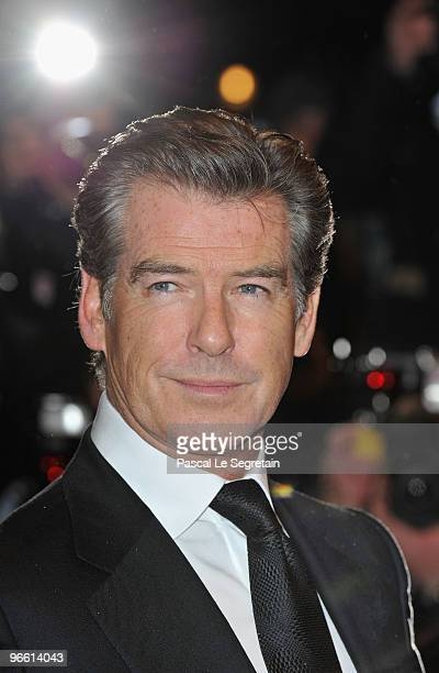 Actor Pierce Brosnan attends 'The Ghost Writer' Premiere during day two of the 60th Berlin International Film Festival at the Berlinale Palast on...