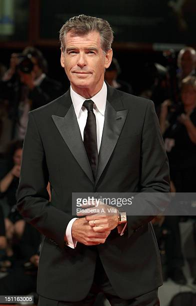 Actor Pierce Brosnan attends the 'Love Is All You Need' Premiere during the 69th Venice Film Festival at the Palazzo del Cinema on September 2 2012...