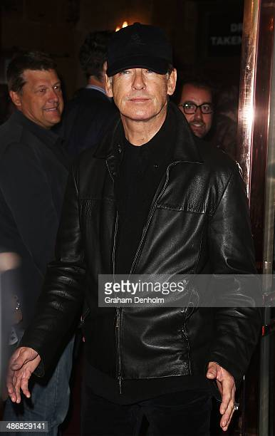 Actor Pierce Brosnan attends the Melbourne premiere of the Rocky Horror Musical on April 26 2014 in Melbourne Australia