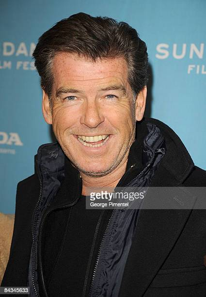 Actor Pierce Brosnan attends the premiere of The Greatest during the 2009 Sundance Film Festival at Eccles Theatre on January 17 2009 in Park City...