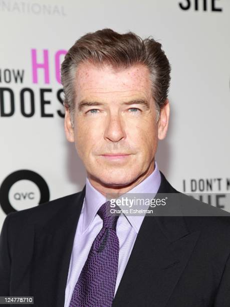 Actor Pierce Brosnan attends The Weinstein Company The Cinema Society With QVC Palladium premiere of I Don't Know How She Does It at AMC Loews...