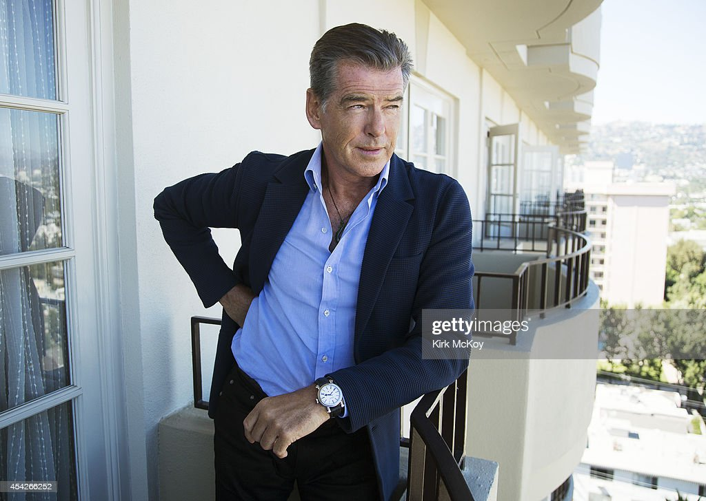 Actor Pierce Brosnan is photographed for Los Angeles Times on August 27, 2014 in Los Angeles, California. PUBLISHED IMAGE.