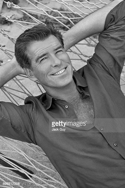 Actor Pierce Brosnan is photographed for Parade Magazine in 2008.