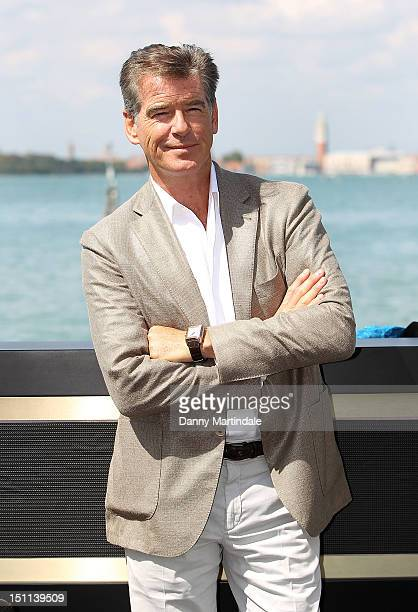 Actor Pierce Brosnan is seen at the Venice Movie Stars Lounge during the 69th Venice Film Festival on September 2, 2012 in Venice, Italy.