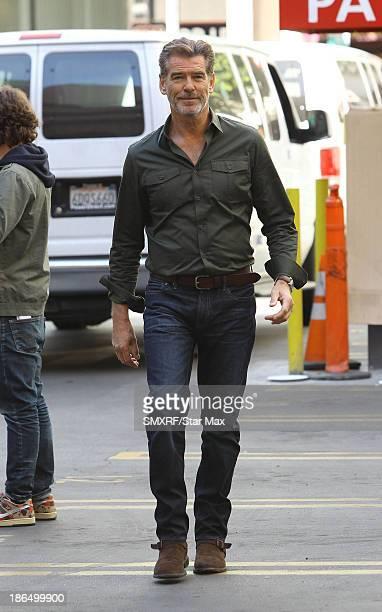 Actor Pierce Brosnan is seen on October 31 2013 in Los Angeles California