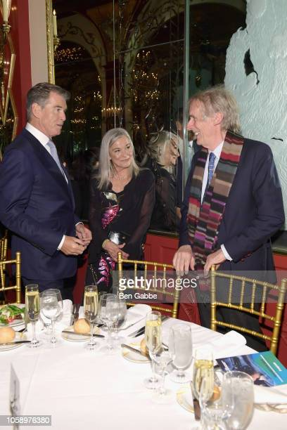 Actor Pierce Brosnan Sharon Rose Smith and Director Roger Spottiswoode attend the 2018 Innovation Gala where Chemotherapy Foundation honors Actor...