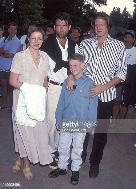 Actor Pierce Brosnan son Christopher Brosnan daughter Charlotte Brosnan and son Sean Brosnan attend An Evening at the Net Benefit for Revlon/UCLA...