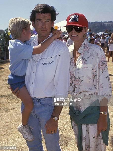 Actor Pierce Brosnan wife Cassandra Harris and son Sean Brosnan attend the Eighth Annual Malibu Kiwanis Chili Cookoff Carnival and Fair on September...