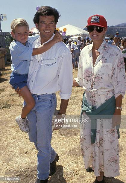 Actor Pierce Brosnan, wife Cassandra Harris and son Sean Brosnan attend the Eighth Annual Malibu Kiwanis Chili Cook-off Carnival and Fair on...
