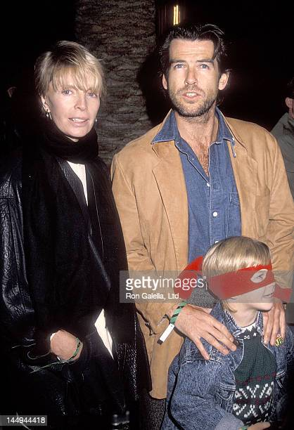 Actor Pierce Brosnan, wife Cassandra Harris and son Sean Brosnan attend the Pre-Show Backstage Pizza Party for the Teenage Mutant Ninja Turtle's...