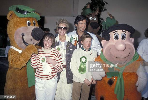 Actor Pierce Brosnan wife Cassandra Harris daughter Charlotte Harris and son Christopher Harris attend the First Annual Beverly Hills St Patrick's...