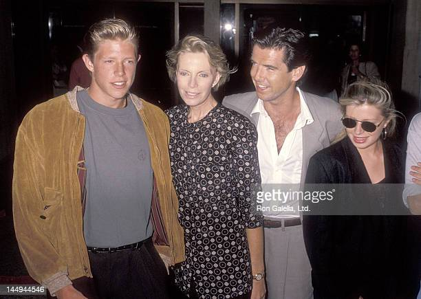 Actor Pierce Brosnan wife Cassandra Harris son Christopher Brosnan and daughter Charlotte Brosnan attend the 'Postcards from the Edge' Century City...