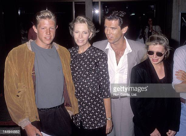 Actor Pierce Brosnan wife Cassandra Harris son Christopher Brosnan and daughter Charlotte Brosnan attend the Postcards from the Edge Century City...