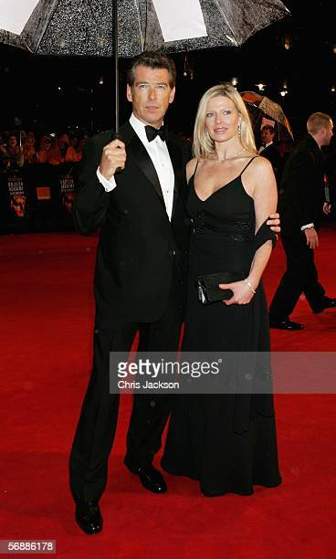 Actor Pierce Pierce Brosnan and Charlotte Brosnan arrive at The Orange British Academy Film Awards at the Odeon Leicester Square on February 19 2006...